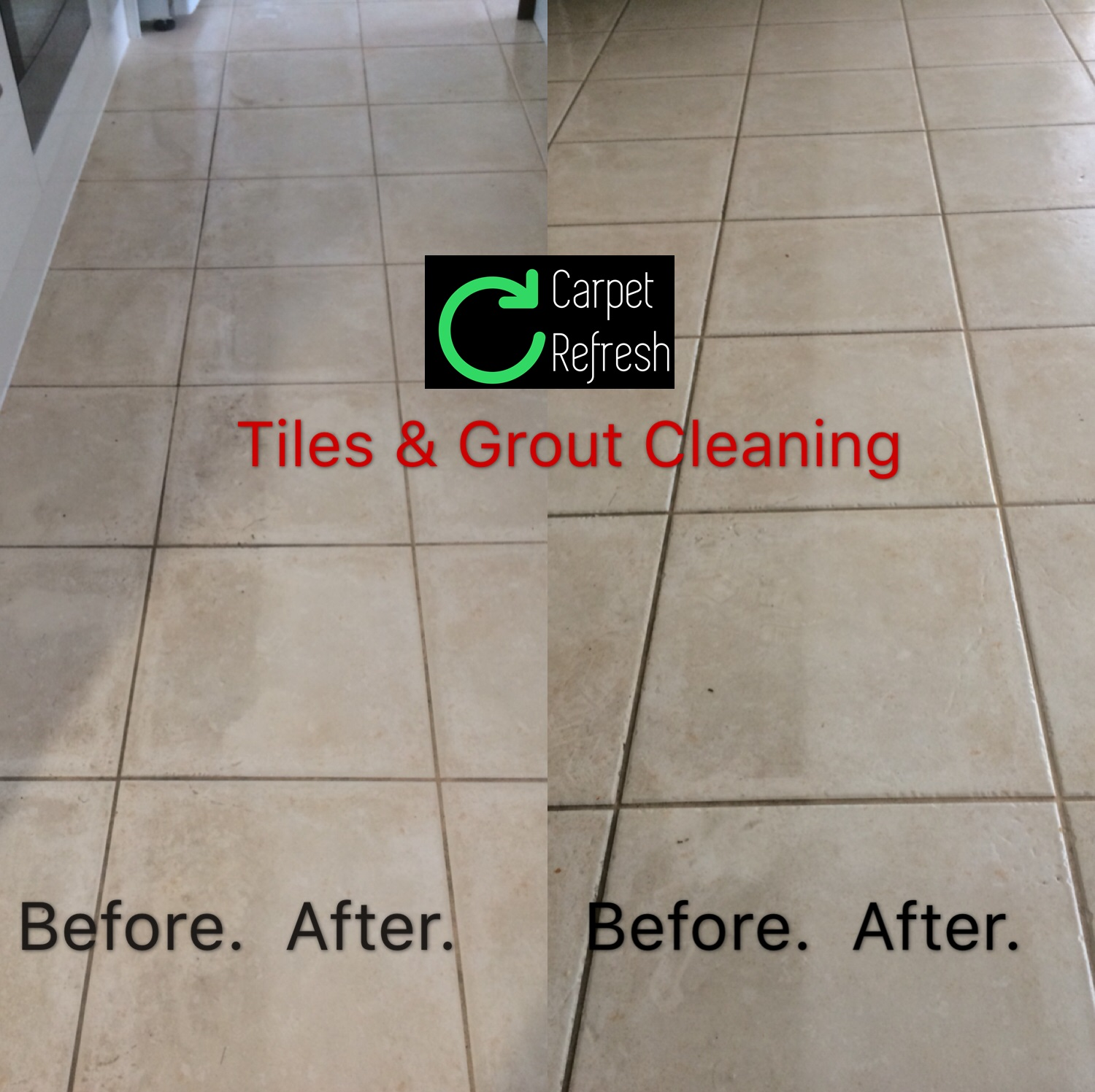 Result of our tiles cleaning